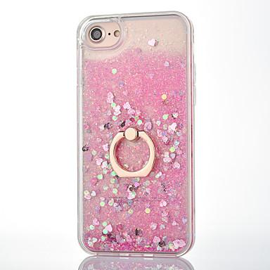 voordelige iPhone-hoesjes-hoesje Voor iPhone 7 / iPhone 7 Plus / Apple Stromende vloeistof / Ringhouder Achterkant Glitterglans Hard PC