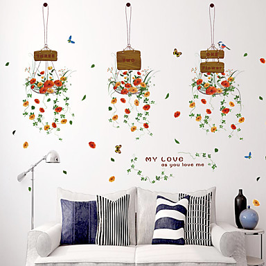 Decoratieve Muurstickers - Vliegtuig Muurstickers Mode / Bloemen ...