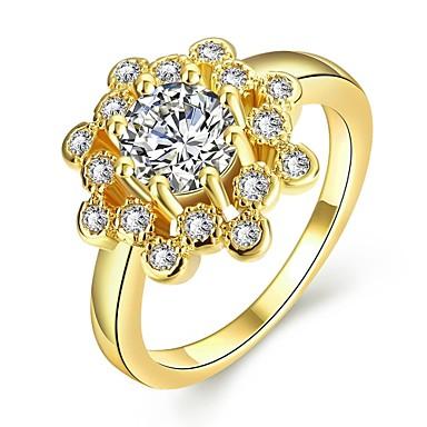 d343200cb4c9 Mujer Diamante sintético Geométrico Anillo de banda - Zirconio ...