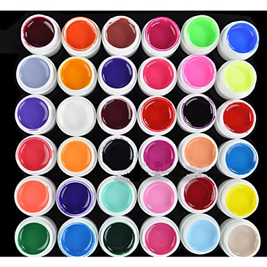 Gel UV para esmalte de uñas 8 ml 36 pcs Gel de color UV / Gel UV Builder / Clásico Empapa de Larga Duración Diario Gel de color UV / Gel UV Builder / Clásico Secado rápido