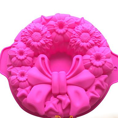 رخيصةأون أدوات الفرن-10 بوصة سيليكون زفاف عيد ميلاد عيد الحب كعكة العفن خبز المطبخ