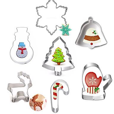 رخيصةأون أدوات الفرن-7PCS الفولاذ المقاوم للصدأ عيد الميلاد المجيد اصنع بنفسك كعكة بسكويت فطيرة الكرتون على شكل حيوان الخبز العفن أدوات خبز