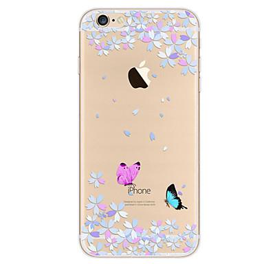 voordelige iPhone-hoesjes-hoesje Voor Apple iPhone 7 Plus / iPhone 7 / iPhone 6s Plus Ultradun / Patroon Achterkant Vlinder Zacht TPU