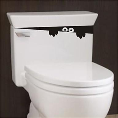 1 قطعة 28 سنتيمتر * 4 سنتيمتر مضحك خاطفة الوحش مقعد المرحاض الحمام جدار سيارة صائق ملصقا الفينيل الفن جدارية
