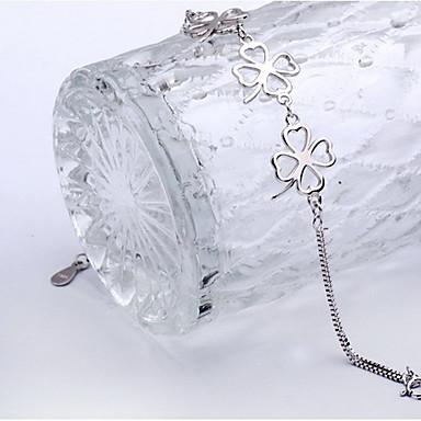 رخيصةأون أساور-أساور السلسلة والوصلة وردة Clover موضة لطيف مطلي بالفضة مجوهرات سوار فضي من أجل هدية