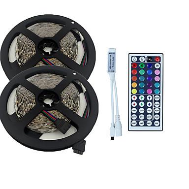 olcso RGB szalagfények-10 m Világítás készletek 600 LED 3528 SMD RGB Távirányító / Cuttable / Tompítható 100-240 V / Összekapcsolható / Gépjárműbe / Öntapadós / IP44