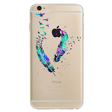 voordelige iPhone X hoesjes-hoesje Voor Apple iPhone XS / iPhone XR / iPhone XS Max Ultradun / Patroon Achterkant Veren Zacht TPU