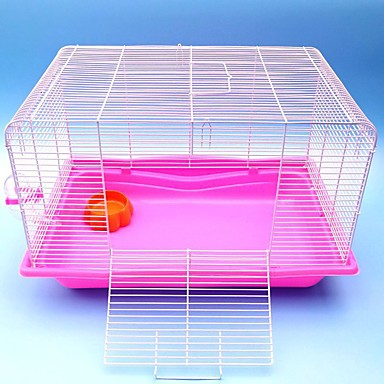 cheap Small Animals Accessories-Rodents / Rabbits / Chinchillas Plastic Foldable Cages Coffee / Blue / Pink