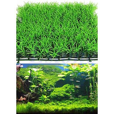 olcso Kiegészítők akváriumokhoz és halaknak-Akvárium Akváriumdíszek Vízi növény Mesterséges növények Zöld Mesterséges Műanyag 2db 25*25*3 cm