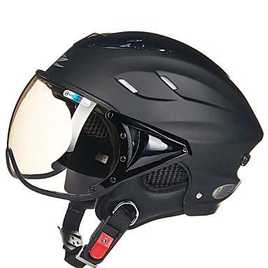 REUS 125B وجه مفتوح بالغين للجنسين دراجة نارية خوذة ضد الضباب / متنفس