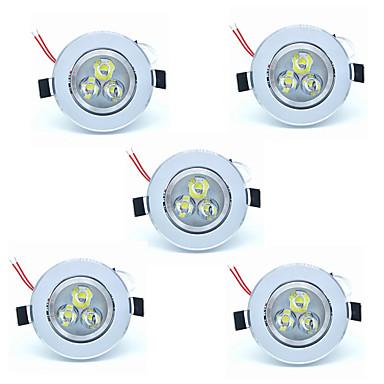 olcso Beltéri lámpák-5pcs 3 W 300 lm 3 LED gyöngyök Könnyű beszerelni Süllyesztett kapcsolók LED mélysugárzók Meleg fehér Hideg fehér 220-240 V Otthon / iroda Gyerekszoba Konyha / 5 db. / RoHs / CE / CCC