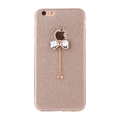 cheap iPhone Cases-Case For Apple iPhone 7 Plus / iPhone 7 / iPhone 6s Plus Frosted / DIY Back Cover Glitter Shine Soft TPU