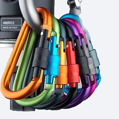 olcso Kemping felszerelések-Csat Karabinerek Multitools Multi Function Alumínium ötvözet Túrázás Kemping Szabadtéri Utazás Véletlenszerűen kiválasztott szín