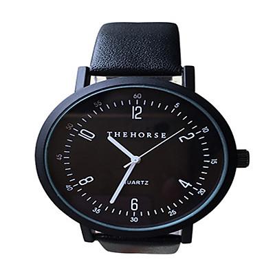 Недорогие Часы на металлическом ремешке-Для пары Модные часы Кварцевый На каждый день Cool Аналоговый Белый Черный / Нержавеющая сталь / Натуральная кожа / Натуральная кожа