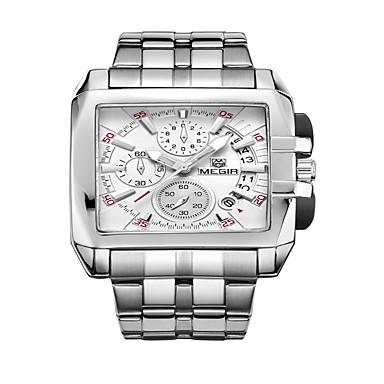 Недорогие Часы на металлическом ремешке-Муж. Модные часы Кварцевый Кулоны Аналоговый Белый Черный / Нержавеющая сталь / Нержавеющая сталь