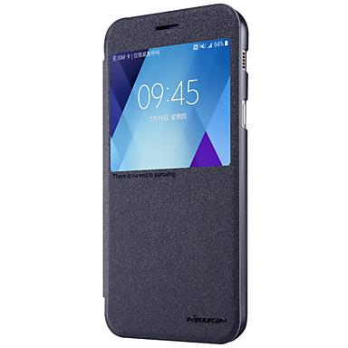 رخيصةأون حافظات / جرابات هواتف جالكسي A-Nillkin غطاء من أجل Samsung Galaxy A5(2017) / A3(2017) مع نافذة / قلب / مثلج غطاء كامل للجسم لون سادة قاسي جلد PU إلى A3 (2017) / A5 (2017) / A7 (2017)