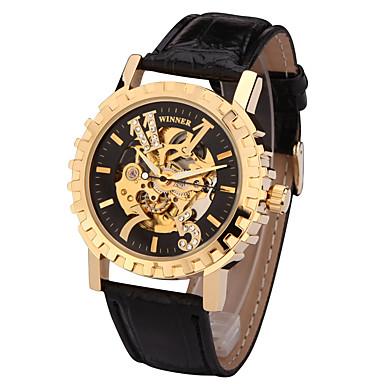 رخيصةأون ساعات الرجال-رجالي ساعة رياضية ساعات فاشن ساعة فستان داخل الساعة أتوماتيك جلد طبيعي متعدد الألوان 50 m المصممين سويسري مماثل سحر كلاسيكي كاجوال - ذهبي