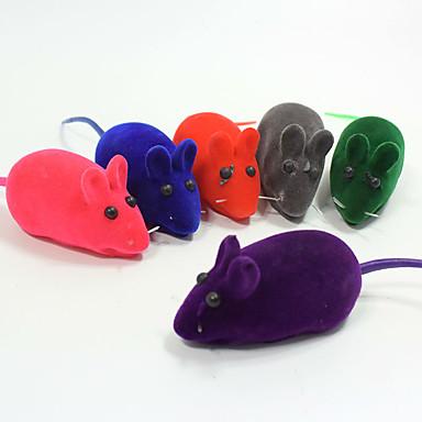 رخيصةأون لعب-لعب المضغ متفاعل ألعاب الصرير لعب الفأر لعبة للقطة لعبة للكلب حيوانات أليفة ألعاب 1 صرير ماوس مطاط هدية