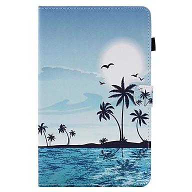 voordelige Samsung Tab-serie hoesjes / covers-hoesje Voor Samsung Galaxy / Tabblad Een 8.0 / Tabblad Een 9.7 Tab E 9.6 / Tab E 8.0 / Tab A 10.1 (2016) Kaarthouder / met standaard / Flip Volledig hoesje Landschap Hard PU-nahka