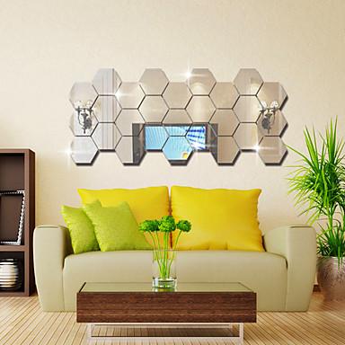 Specchi decorativi adesivi specchi forma astratto adesivi murali adesivi con strass da parete - Specchi adesivi per pareti ...