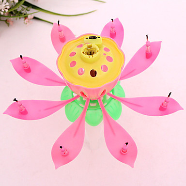 Musical Lotus Flower Candles Happy Birthday Candle For Party Gift Lights Decoration 5620046 2019 314
