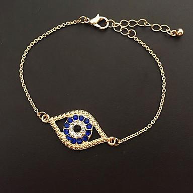 رخيصةأون أساور-نسائي أساور السلسلة والوصلة عين الشر الطبيعة أوروبي سبيكة مجوهرات سوار أزرق العين الشريرة من أجل هدية