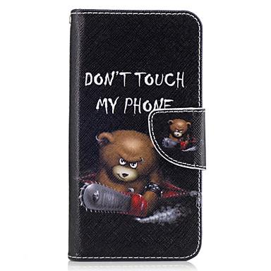 hoesje Voor Samsung Galaxy J5 (2016) / J3 Prime / J3 (2016) Portemonnee / Kaarthouder / met standaard Volledig hoesje dier Hard PU-nahka