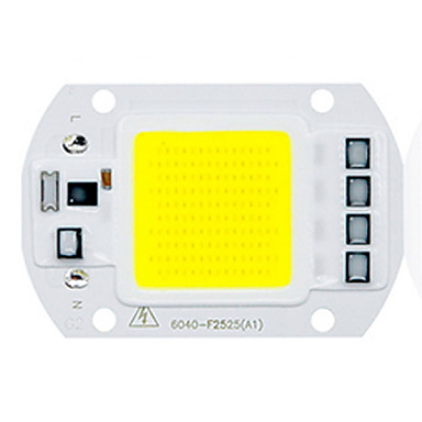 cheap LED Accessories-1pc 50W Utral Bright LED COB Chip 110V 220V Input Smart IC for DIY LED Flood Light Warm Cold White