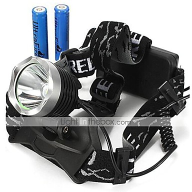 cheap Headlamps-U'King Headlamps Headlight 2000 lm LED LED Emitters 3 Mode with Batteries Zoomable Adjustable Focus Compact Size High Power Easy Carrying Multifunction Camping / Hiking / Caving Everyday Use Cycling