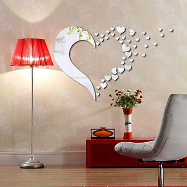 786 1 Pc Mirrors Shapes Abstract Wall Stickers Crystal Wall Stickers Mirror Wall Stickers Decorative Wall Stickersvinyl Material Home Decoration