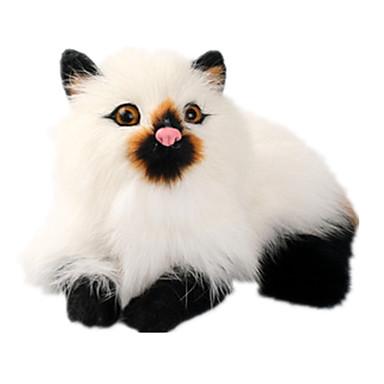 olcso Plüssjátékok-Cat Punjene i plišane igračke Kézzel készített élethű Állatok Klasszikus és időtálló Plüs Lány Játékok Ajándék