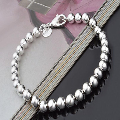 cheap Pearl Bracelets-Women's Pearl Bead Bracelet Hollow Out Love Ladies European Fashion Silver Plated Bracelet Jewelry Silver For Christmas Gifts Party Birthday Gift