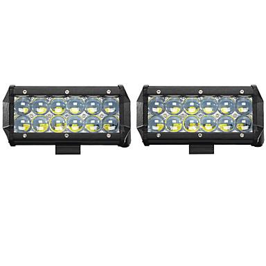رخيصةأون مصابيح أعمال صيانة السيارات-2pcs سيارة لمبات الضوء 60W LED أداء عالي / COB / Integrated LED 6000lm LED ضوء العمل