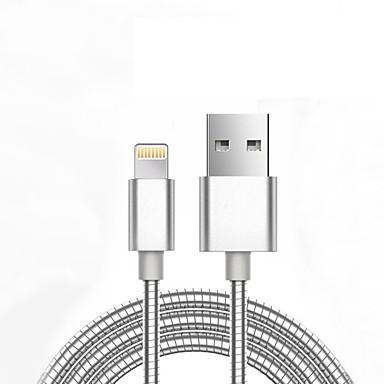 رخيصةأون كابلات ومحولات هواتف-التفاح البرق / البرق كابل <1m / 3ft طبيعي / جديلي الالومنيوم / معدن محول كابل أوسب من أجل iPhone 7 / iPhone 7 Plus / iPad