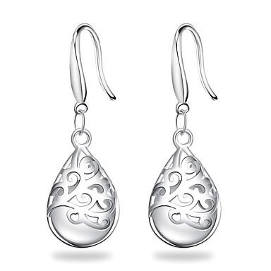 สำหรับผู้หญิง Drop Earrings ต่างหูห้อย หล่น สุภาพสตรี ดีไซน์เฉพาะตัว สง่างาม เกี่ยวกับเจ้าสาว เงินสเตอร์ลิง Silver ต่างหู เครื่องประดับ ขาว / สีบานเย็น สำหรับ