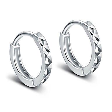 ieftine Cercei-Cercei Rotunzi Clasic Elegant Plastic Argintiu cercei Bijuterii Argintiu Pentru Petrecere Zilnic Casual