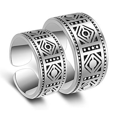 نسائي خواتم الزوجين خاتم فضي مطلي بالبلاتينيوم أنيق زفاف مناسب للحفلات مجوهرات / مناسبة خاصة