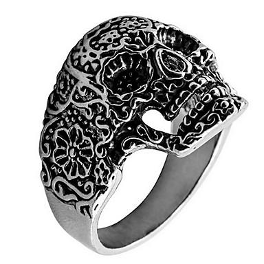 رخيصةأون خواتم-خاتم فضي سبيكة مناسب للبس اليومي فضفاض مجوهرات