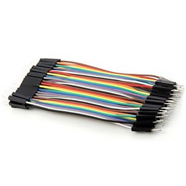 voordelige Arduino-accessoires-praktische 40pin diy kleurrijke man op man DuPont kabeldraad voor arduino (10 cm)