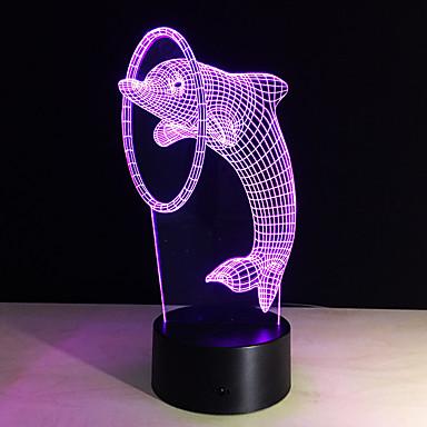 ieftine Lumini Novelty LED-3D Nightlight Telecomandă / Schimbare - Culoare / Mărime Mică Artistic / LED / Modern contemporan 1 piesă