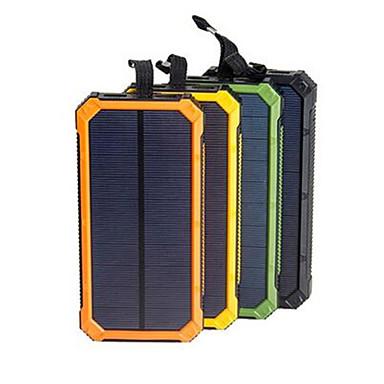 olcso Külső akkumulátorok-napenergia bank vízálló 16000mah napelemes töltő kettős usb port külső töltő powerbank okostelefon led fény
