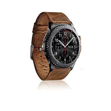 voordelige Smartwatch-accessoires-Horlogeband voor Gear S3 Frontier / Gear S3 Classic Samsung Galaxy Sportband Leer Polsband