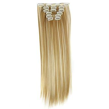 Kose za kosu Ravan kroj Klasika Sintentička kosa Ugradnja umetaka S kopčom Dnevno