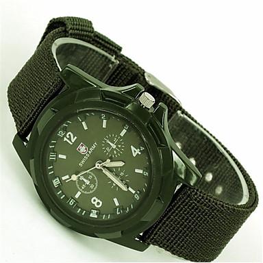 Недорогие Часы на металлическом ремешке-Муж. Модные часы Кварцевый На каждый день Аналоговый Черный Синий Зеленый