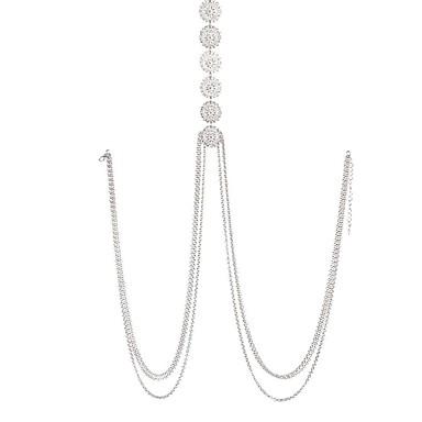 ieftine Bijuterii de Corp-Lanț de Talie Corp lanț / burtă lanț Boem Vintage Modă Pentru femei Bijuterii de corp Pentru Ocazie specială Cadou Articole de ceramică Aliaj Prieteni Auriu Argintiu / Lănțișor Buric