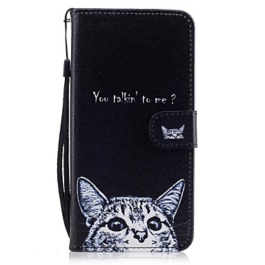 cheap iPhone 5c Cases-Case For Apple iPhone 7 Plus / iPhone 7 / iPhone 6s Plus Wallet / Card Holder / with Stand Full Body Cases Cat Hard PU Leather
