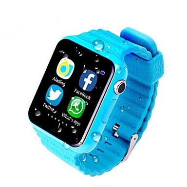 رخيصةأون ساعات ذكية-الساعات الاطفال إلى iOS / Android رصد معدل ضربات القلب / رمادي داكن / إسبات الطويل / مكالمات بدون يد / شاشة لمس متتبع النشاط / متتبع النوم / تذكير المستقرة / أجد هاتفي / أصفر داكن / 2 MP / 64MB