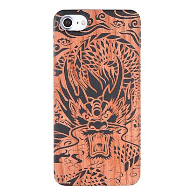 Недорогие Кейсы для iPhone 7 Plus-Кейс для Назначение IPhone 7 / iPhone 7 Plus / Apple iPhone 7 Plus / iPhone 7 Рельефный / С узором Кейс на заднюю панель Животное Твердый деревянный