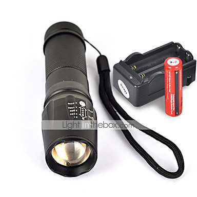 w878 led handheld led lumens 5 mode cree xml t6 nonslip grip for u2013