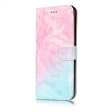 voordelige Galaxy S-serie hoesjes / covers-hoesje Voor Samsung Galaxy S8 Plus / S8 / S7 edge Portemonnee / Kaarthouder / met standaard Volledig hoesje Marmer Hard PU-nahka